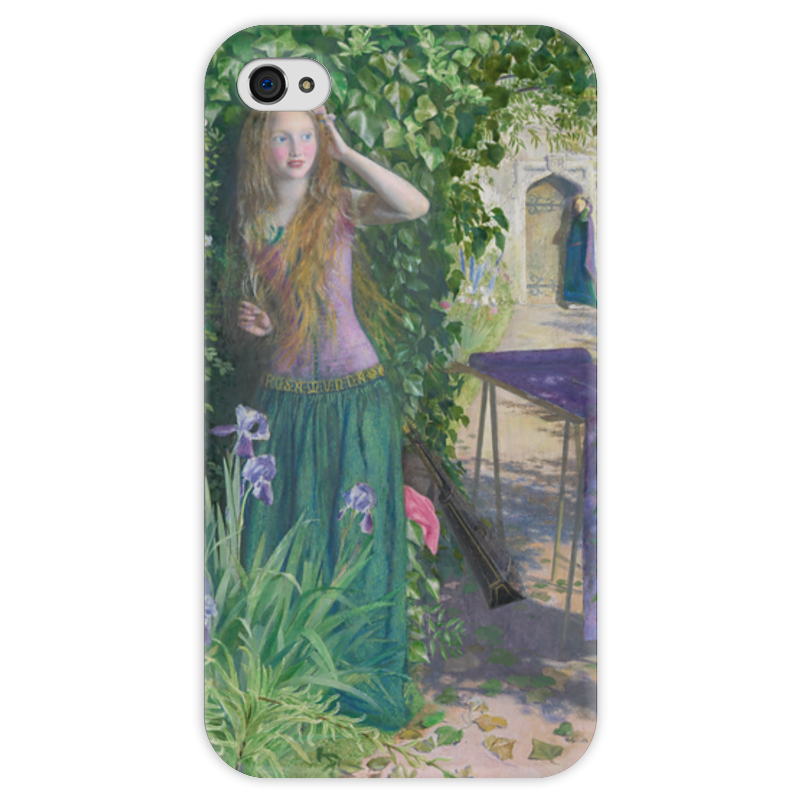 Чехол для iPhone 4 глянцевый, с полной запечаткой Printio Ярмарка розамунда (артур хьюз) артур конан дойл тайна клумбера