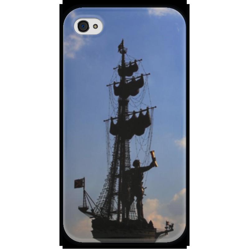 Чехол для iPhone 4 глянцевый, с полной запечаткой Printio Корабль чехол для iphone 4 глянцевый с полной запечаткой printio челси
