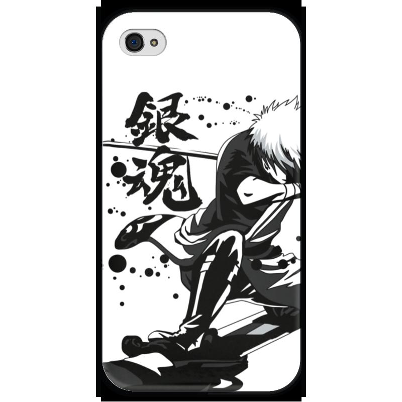Чехол для iPhone 4 глянцевый, с полной запечаткой Printio Гинтама чехол для iphone 4 глянцевый с полной запечаткой printio любовь наше сопротивление
