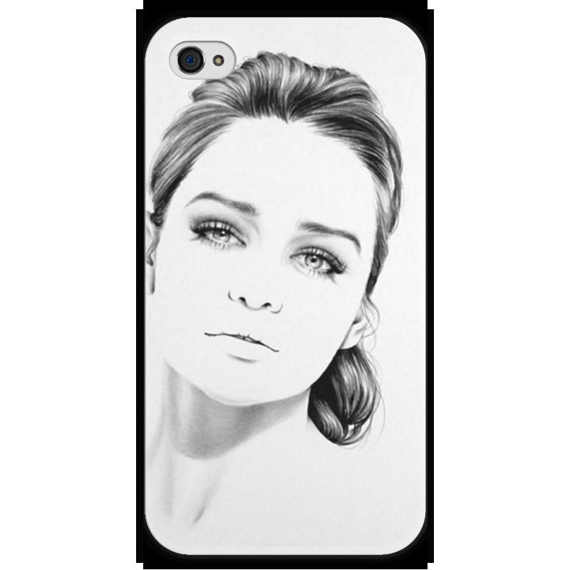 Чехол для iPhone 4 глянцевый, с полной запечаткой Printio Daenerys targaryen чехол для iphone 4 глянцевый с полной запечаткой printio эфиопка