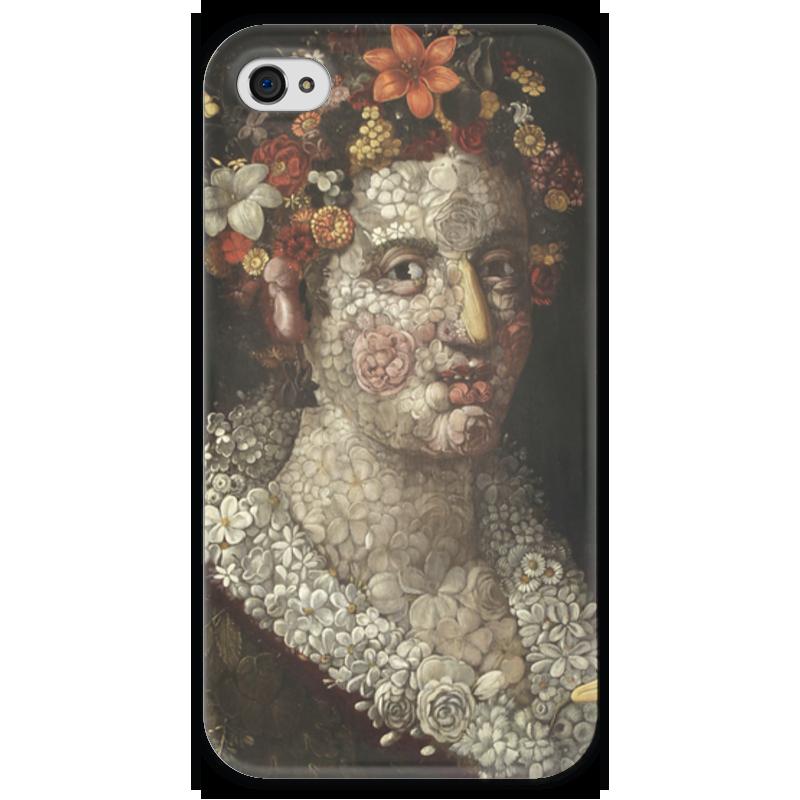 Чехол для iPhone 4 глянцевый, с полной запечаткой Printio Флора (джузеппе арчимбольдо) вернер кригескорте джузеппе арчимбольдо