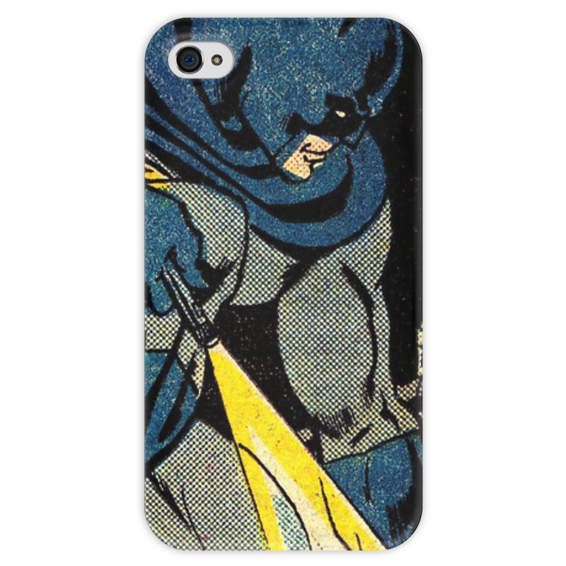 Чехол для iPhone 4 глянцевый, с полной запечаткой Printio Бэтмен чехол для iphone 4 глянцевый с полной запечаткой printio суарес