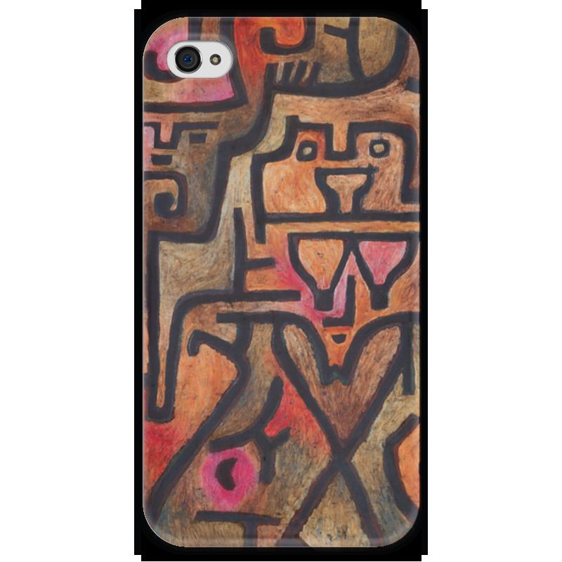 Чехол для iPhone 4 глянцевый, с полной запечаткой Printio Лесные ведьмы (пауль клее) чехол для samsung galaxy s5 printio лесные ведьмы пауль клее