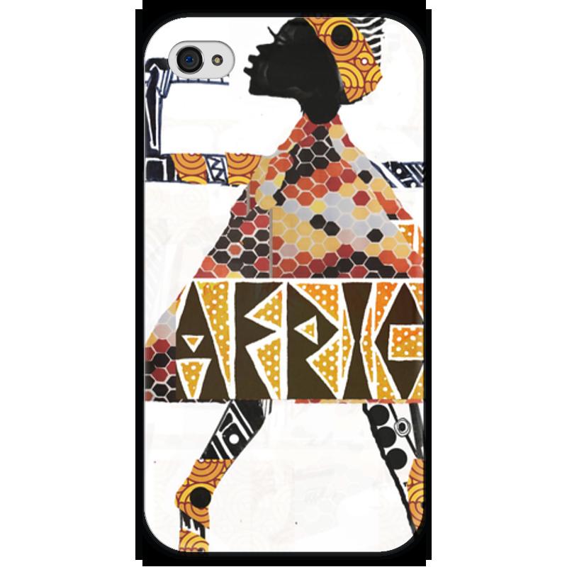 Чехол для iPhone 4 глянцевый, с полной запечаткой Printio Africa чехол для iphone 4 глянцевый с полной запечаткой printio фруктовый сад в цвету