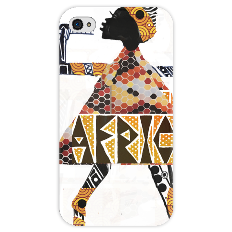 Чехол для iPhone 4 глянцевый, с полной запечаткой Printio Africa чехол для iphone 4 глянцевый с полной запечаткой printio father forgive them