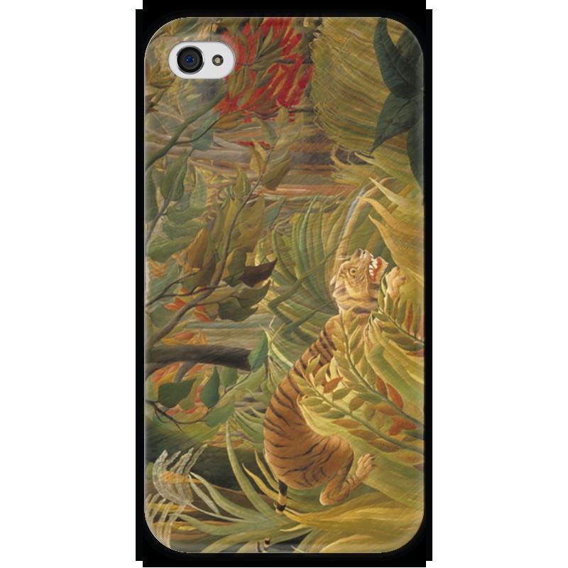 Чехол для iPhone 4 глянцевый, с полной запечаткой Printio Нападение в джунглях контратака лучшая защита нападение