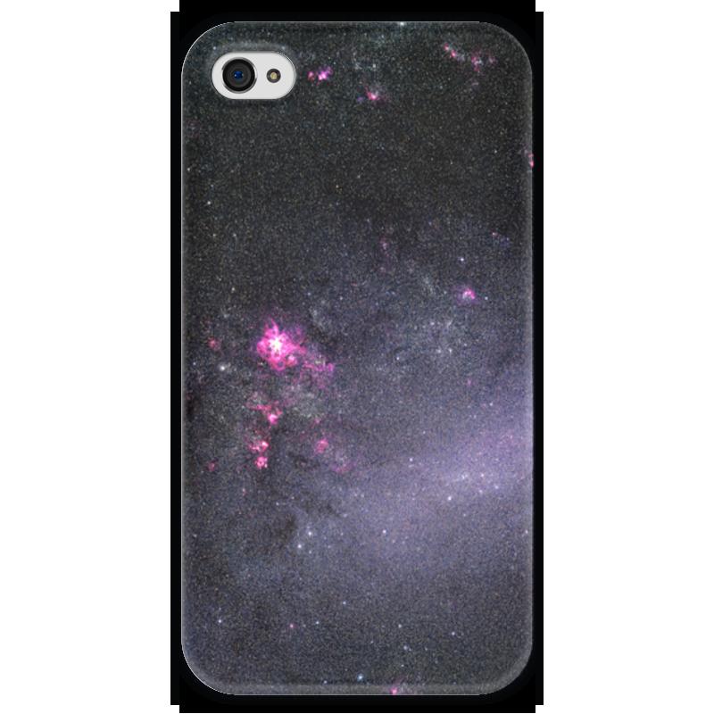Чехол для iPhone 4 глянцевый, с полной запечаткой Printio Вселенная кьеркегор с понятие страха