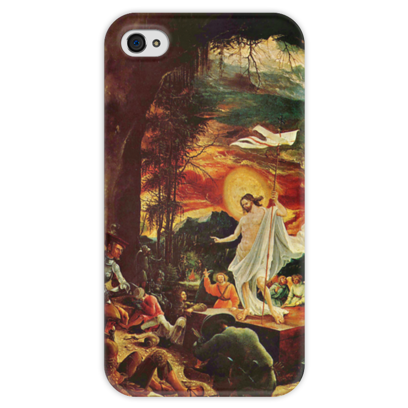 Чехол для iPhone 4 глянцевый, с полной запечаткой Printio Воскресение иисуса христа (альбрехт альтдорфер) воскресение бога воплощенного