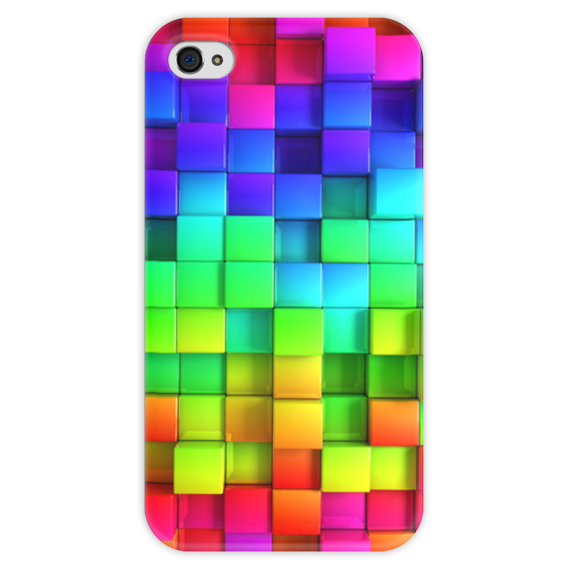 Чехол для iPhone 4 глянцевый, с полной запечаткой Printio Яркие краски чехол для iphone 4 глянцевый с полной запечаткой printio эфиопка