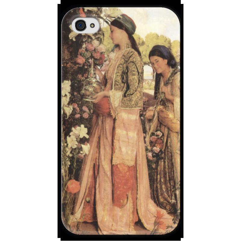 Чехол для iPhone 4 глянцевый, с полной запечаткой Printio Душистые лилии (джон фредерик льюис) фредерик клеман метаморфозы