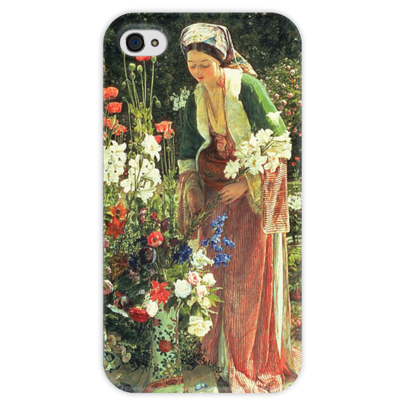 все цены на Чехол для iPhone 4 глянцевый, с полной запечаткой Printio В саду бейс (картина джона льюиса) онлайн