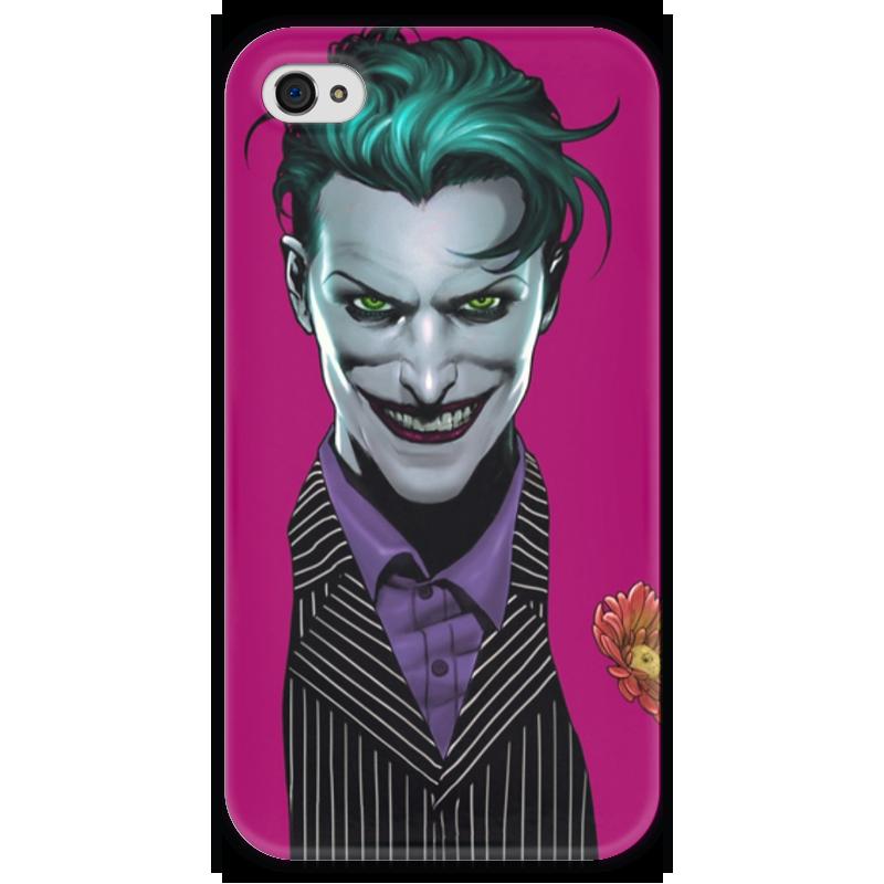 Чехол для iPhone 4 глянцевый, с полной запечаткой Printio Джокер чехол для iphone 4 глянцевый с полной запечаткой printio куртизанка courtesan after eisen