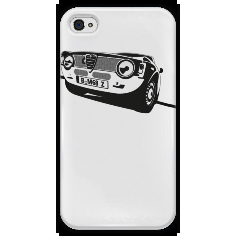 Чехол для iPhone 4 глянцевый, с полной запечаткой Printio Retro alfa romeo racing чехол для iphone 8 plus объёмная печать printio retro alfa romeo racing