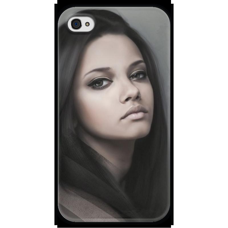 Чехол для iPhone 4 глянцевый, с полной запечаткой Printio Девушка чехол для iphone 4 глянцевый с полной запечаткой printio девушка