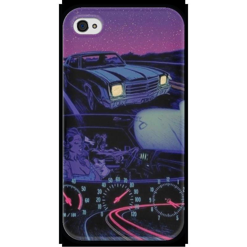 Чехол для iPhone 4 глянцевый, с полной запечаткой Printio Lets ride чехол для iphone 4 глянцевый с полной запечаткой printio эфиопка