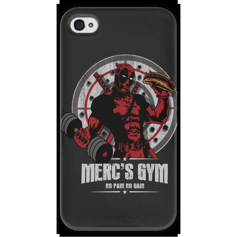 Чехол для iPhone 4 глянцевый, с полной запечаткой Printio Deadpool merc gym чехол для iphone 4 глянцевый с полной запечаткой printio deadpool
