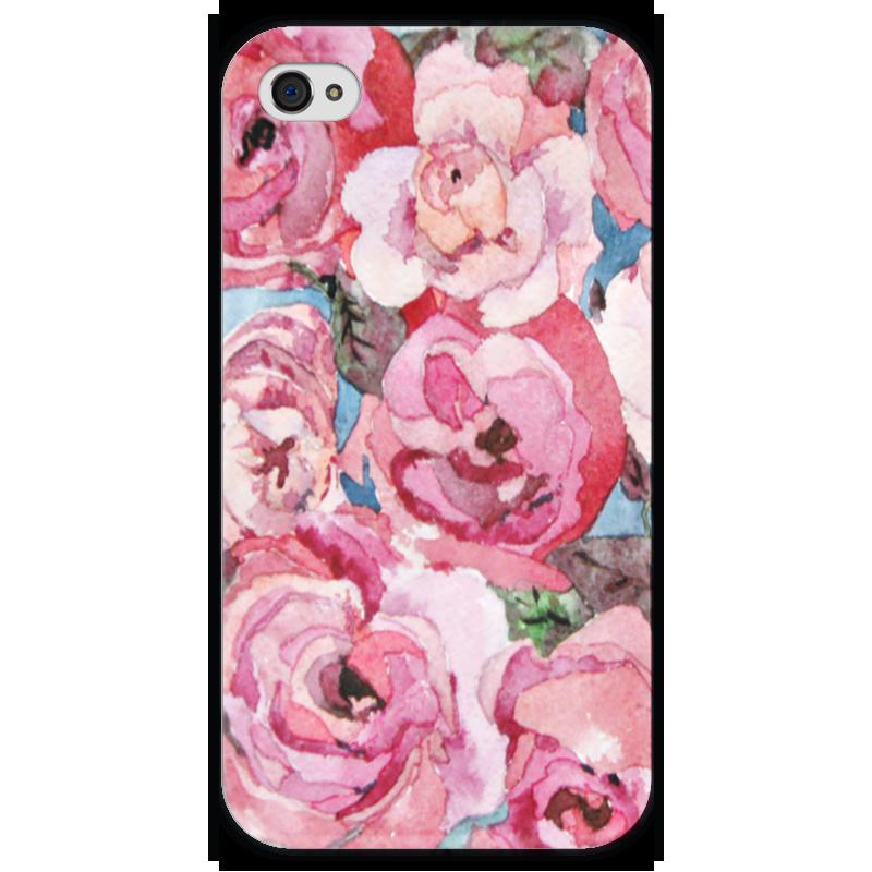 футболка с полной запечаткой для девочек printio розы декор Чехол для iPhone 4 глянцевый, с полной запечаткой Printio Розы. декор