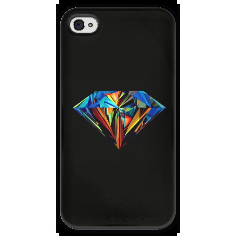 Чехол для iPhone 4 глянцевый, с полной запечаткой Printio Абстрактный алмаз чехол для iphone 4 глянцевый с полной запечаткой printio эфиопка