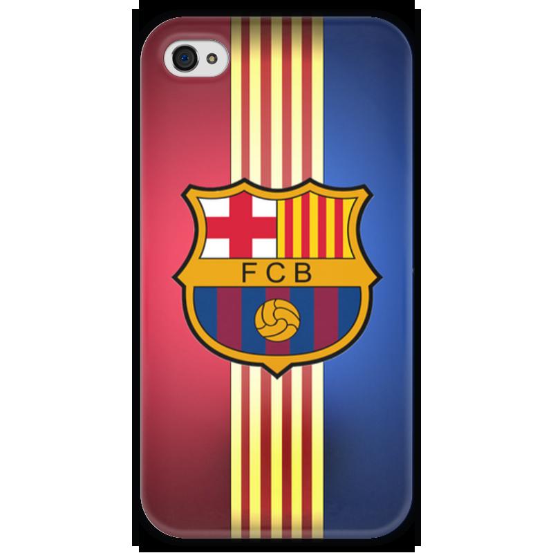 Чехол для iPhone 4 глянцевый, с полной запечаткой Printio Барселона на айфон 4/4s купить чехол на айфон 5 s disney