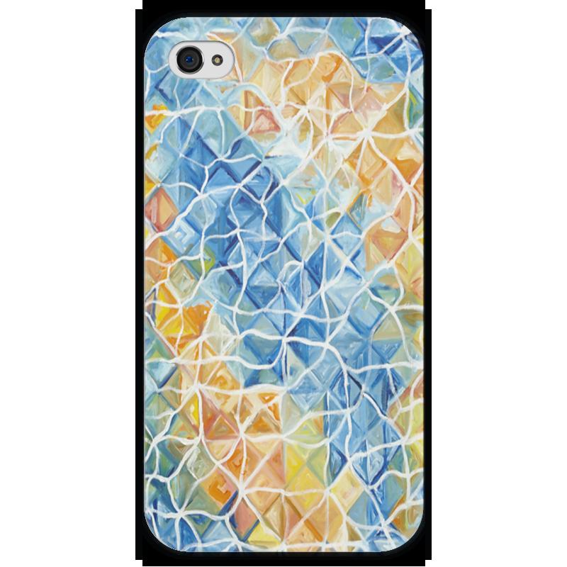 Чехол для iPhone 4 глянцевый, с полной запечаткой Printio Рыбы в бликах