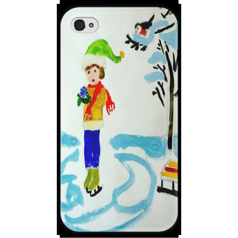 Чехол для iPhone 4 глянцевый, с полной запечаткой Printio Зимние забавы зимние забавы раскраска
