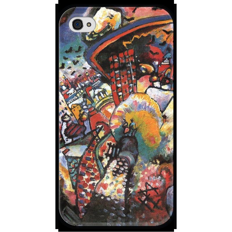 Чехол для iPhone 4 глянцевый, с полной запечаткой Printio Москва. красная площадь бу iphone 4 москва