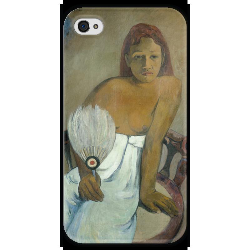 Чехол для iPhone 4 глянцевый, с полной запечаткой Printio Девушка с веером девушка с веслом