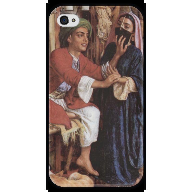 Чехол для iPhone 4 глянцевый, с полной запечаткой Printio Уличная сцена в каире (уильям холман хант) что можно купить в каире