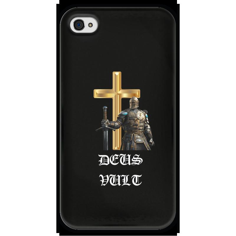 Чехол для iPhone 4 глянцевый, с полной запечаткой Printio Deus vult. крестоносцы чехол для iphone 4 глянцевый с полной запечаткой printio эфиопка