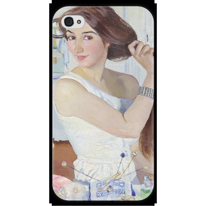 Чехол для iPhone 4 глянцевый, с полной запечаткой Printio За туалетом. автопортрет бытовка спб с туалетом