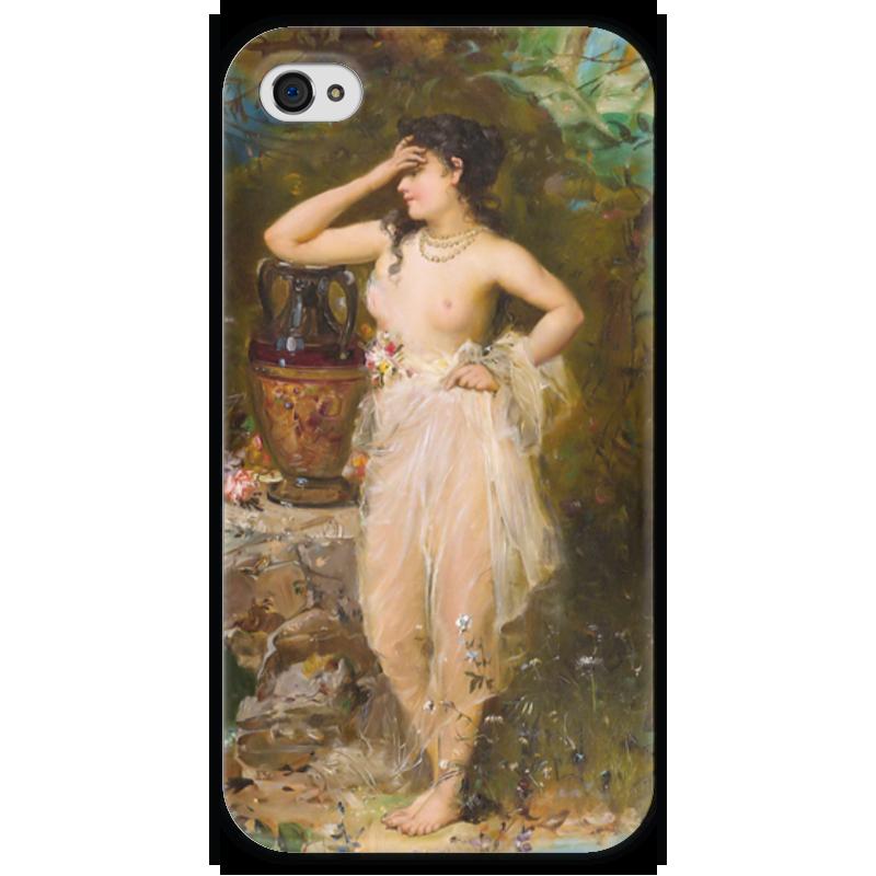 Чехол для iPhone 4 глянцевый, с полной запечаткой Printio Прекрасная купальщица чехол для iphone 4 глянцевый с полной запечаткой printio эфиопка