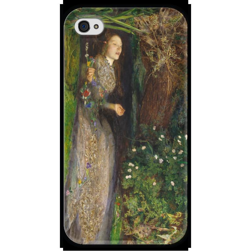 Чехол для iPhone 4 глянцевый, с полной запечаткой Printio Офелия (картина джона эверетта милле) ведьмины круги прощай офелия