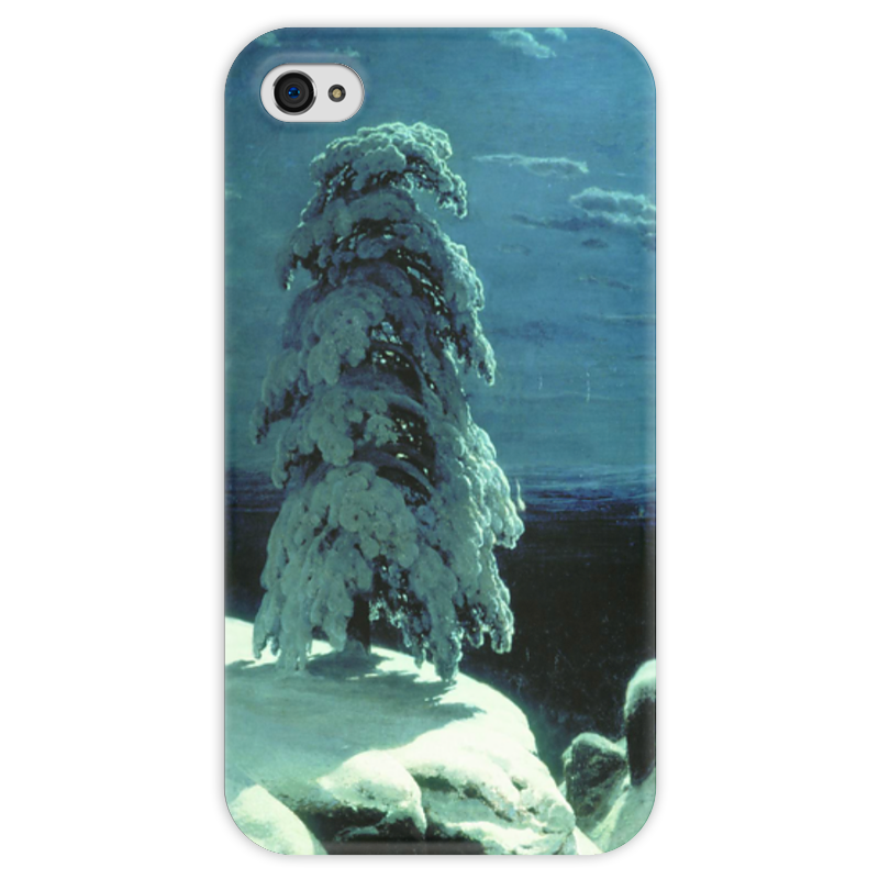 Чехол для iPhone 4 глянцевый, с полной запечаткой Printio На севере диком (иван шишкин) купить щебень на севере москвы