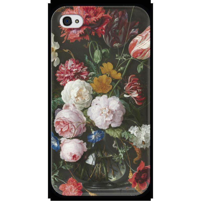 Чехол для iPhone 4 глянцевый, с полной запечаткой Printio Цветочный букет в стеклянной вазе (ян де хем) ян ван хейсум