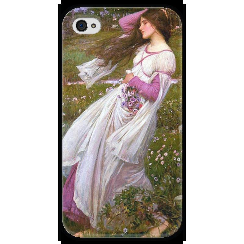 Чехол для iPhone 4 глянцевый, с полной запечаткой Printio Ветреницы (джон уильям уотерхаус) уильям пол янг ева