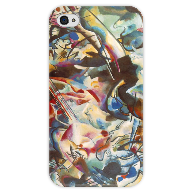 Чехол для iPhone 4 глянцевый, с полной запечаткой Printio Композиция vi (василий кандинский) кандинский блокнот