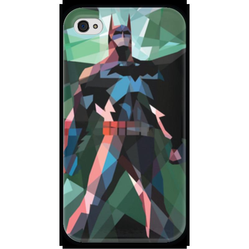 Чехол для iPhone 4 глянцевый, с полной запечаткой Printio Бэтмен купить чехол для айфона 4 с камнями