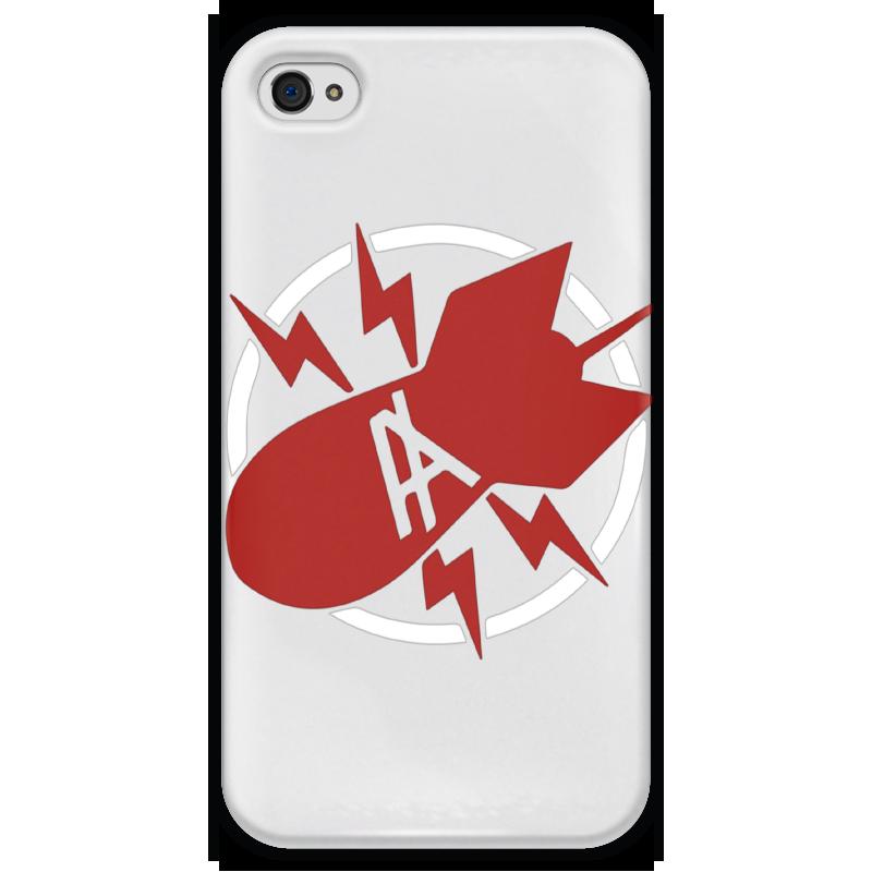 Чехол для iPhone 4 глянцевый, с полной запечаткой Printio Антихайп чехол для iphone 4 глянцевый с полной запечаткой printio пиво