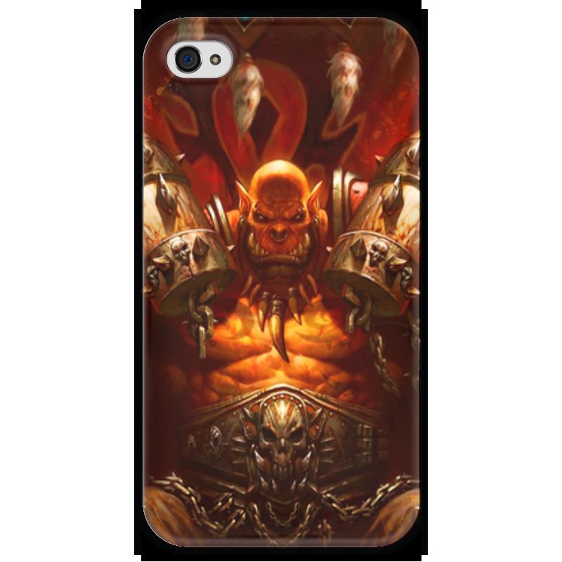 Чехол для iPhone 4 глянцевый, с полной запечаткой Printio Warcraft collection: ork полка дл обуви мастер лана 2 пол 2 1с 1п орех итальнский мст пол 1с 1п ои 16