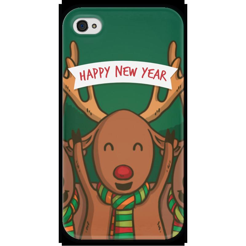 Чехол для iPhone 4 глянцевый, с полной запечаткой Printio С новым годом! чехол для iphone 4 глянцевый с полной запечаткой printio с новым годом