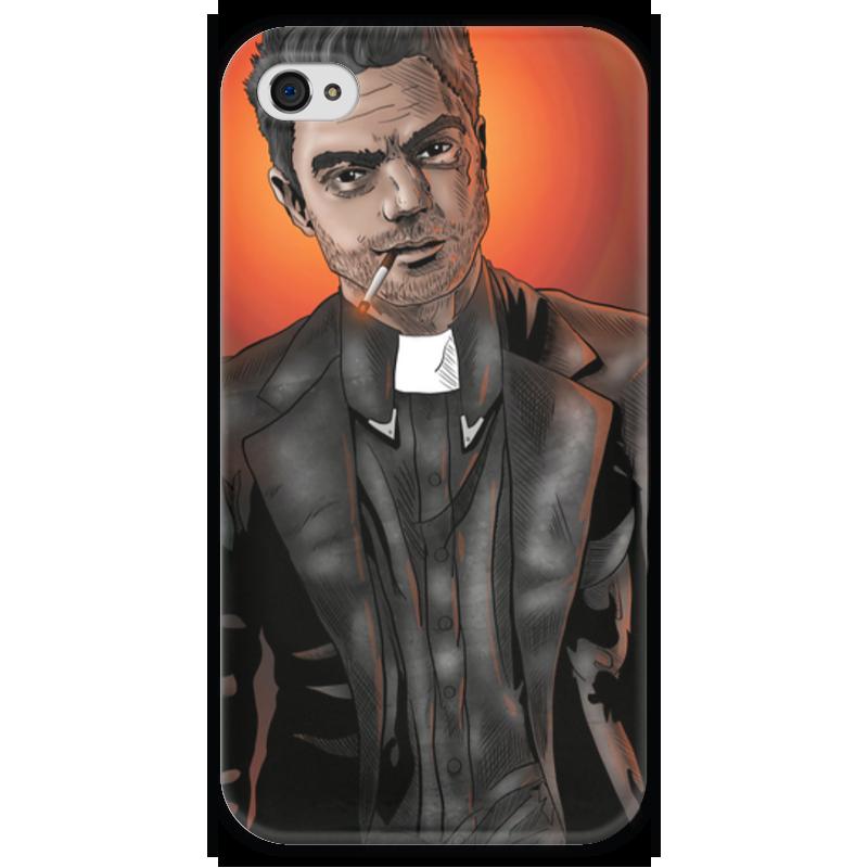 Чехол для iPhone 4 глянцевый, с полной запечаткой Printio Preacher чехол для iphone 4 глянцевый с полной запечаткой printio челси