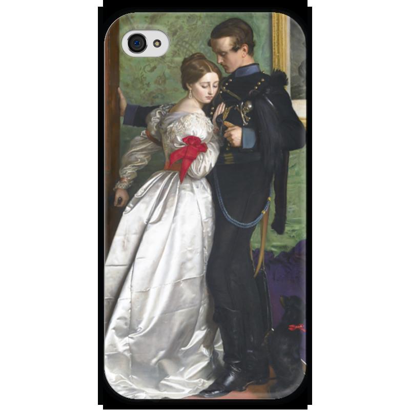 Чехол для iPhone 4 глянцевый, с полной запечаткой Printio Чёрный брауншвейгский гусар (джон милле) чехол для iphone 4 глянцевый с полной запечаткой printio офелия картина джона эверетта милле