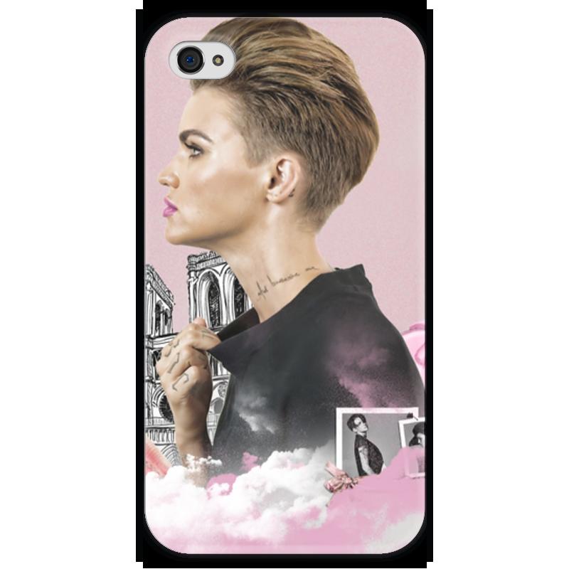 Чехол для iPhone 4 глянцевый, с полной запечаткой Printio Ruby rose iphone 4