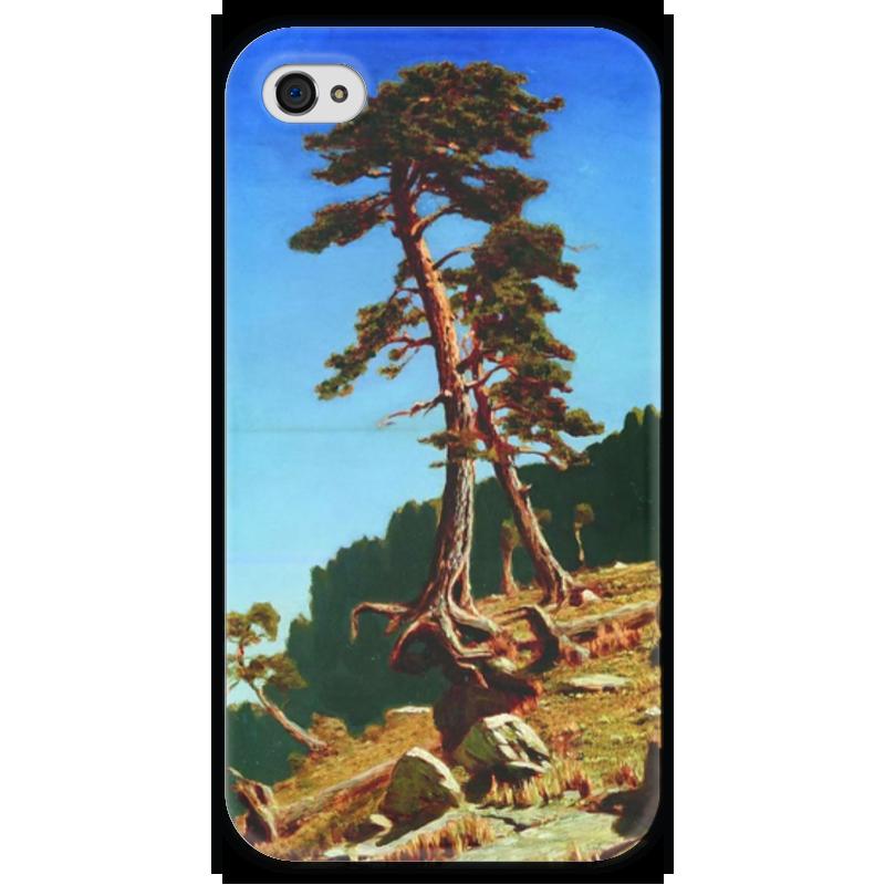 Чехол для iPhone 4 глянцевый, с полной запечаткой Printio Сосна (картина архипа куинджи) чехол для blackberry z10 printio север картина архипа куинджи