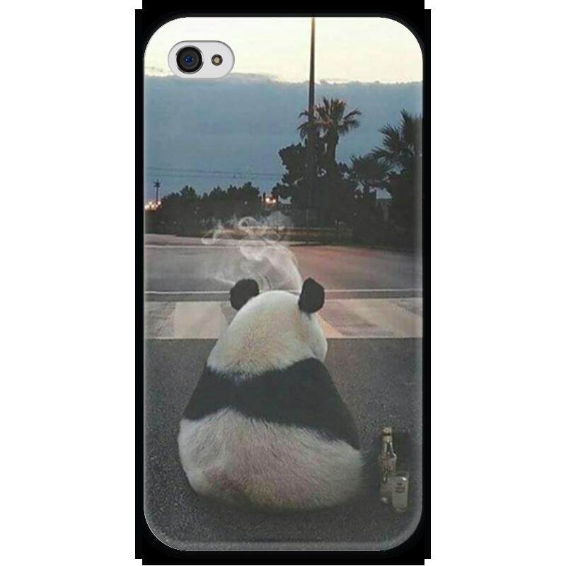 Чехол для iPhone 4 глянцевый, с полной запечаткой Printio Панда чехол для iphone 4 глянцевый с полной запечаткой printio челси