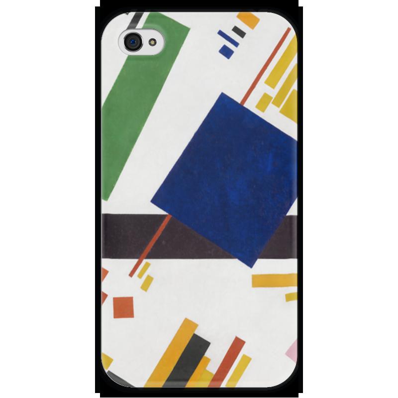 Чехол для iPhone 4 глянцевый, с полной запечаткой Printio Супрематическая композиция (казимир малевич)