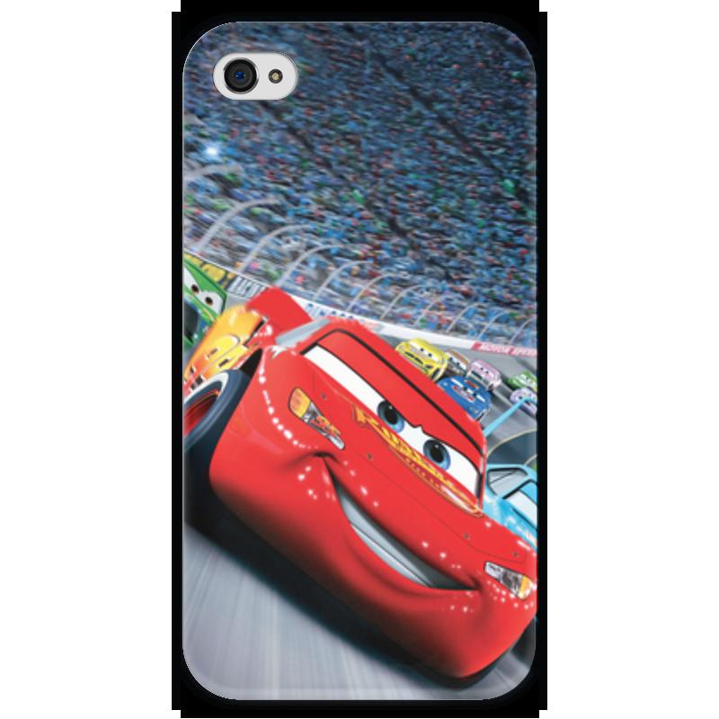Чехол для iPhone 4 глянцевый, с полной запечаткой Printio Тачки