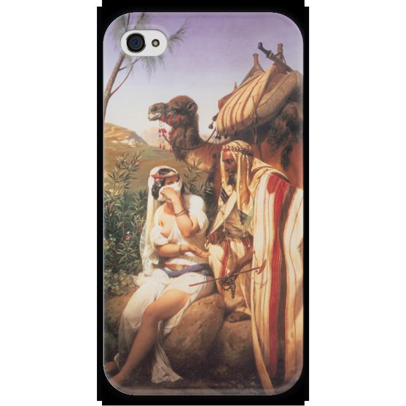 Чехол для iPhone 4 глянцевый, с полной запечаткой Printio Иуда и фамарь (орас верне) лонгслив спортивный under armour under armour un001emabpt3