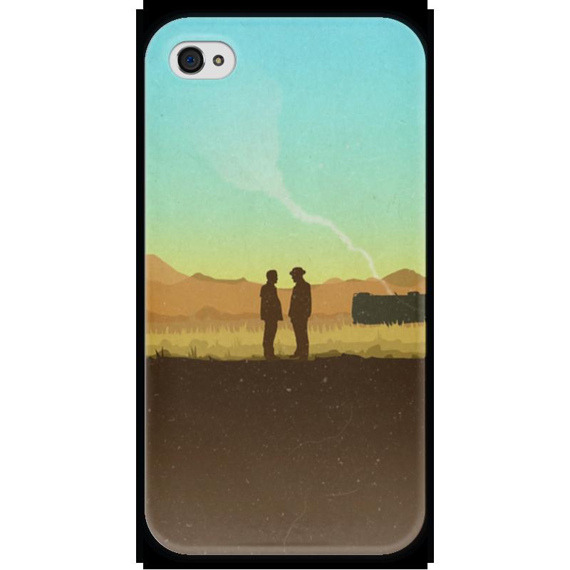 Чехол для iPhone 4 глянцевый, с полной запечаткой Printio Во все тяжкие чехол для iphone 4 глянцевый с полной запечаткой printio эфиопка
