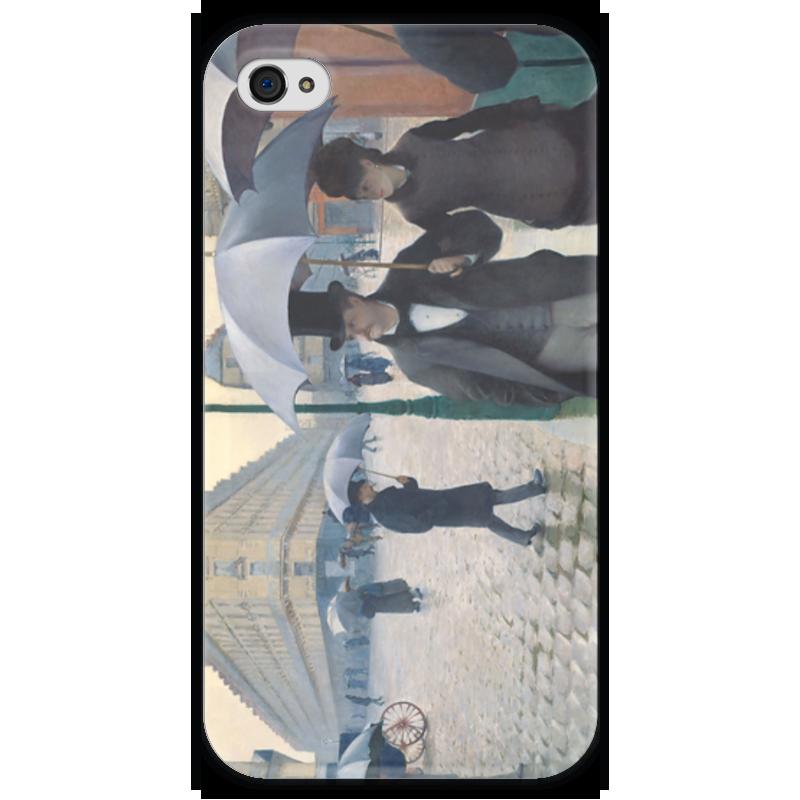Чехол для iPhone 4 глянцевый, с полной запечаткой Printio Парижская улица в дождливую погоду парижская коммуна балетки